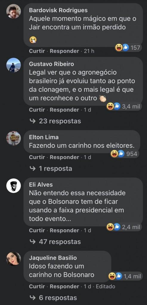 boi planalto facebook 2 - Foto de Bolsonaro acariciando um boi vira piada em post do governo federal