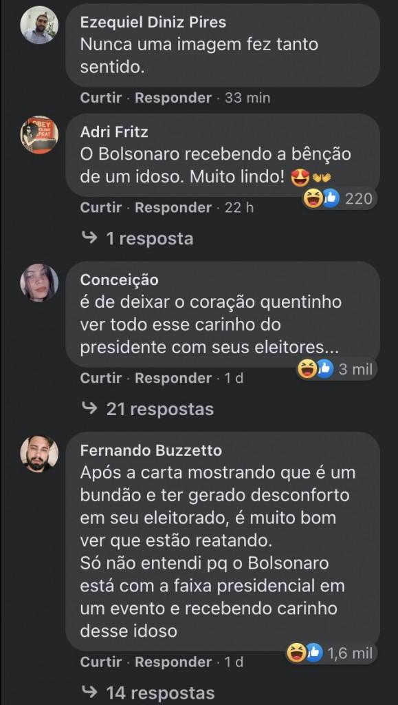 boi planalto facebook 3 - Foto de Bolsonaro acariciando um boi vira piada em post do governo federal