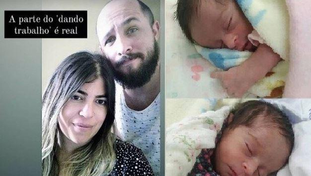 brunsa - Noivo posa com Bruna Surfistinha e fala dos primeiros dias após o nascimento das gêmeas
