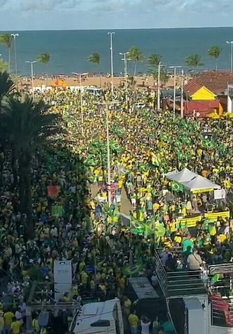 busto e1631044319950 - Manifestantes favoráveis a Bolsonaro se concentram no Busto de Tamandaré, em João Pessoa - VEJA IMAGENS E VÍDEOS
