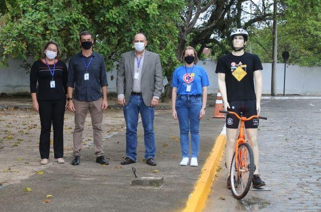 ciclista 1 - Detran-PB instala protótipos de ciclistas na pista de provas para avaliação de candidatos