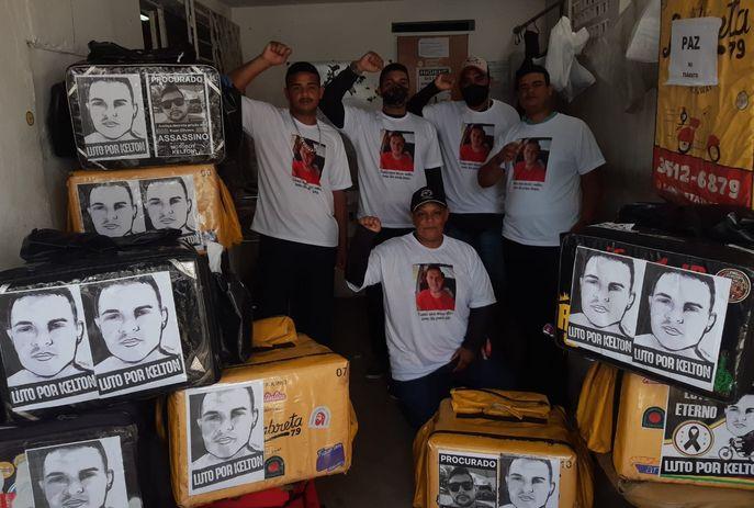 csm luto por kelton d2b7f18adc - Motoboys pedem justiça para Kelton Marques em novo protesto