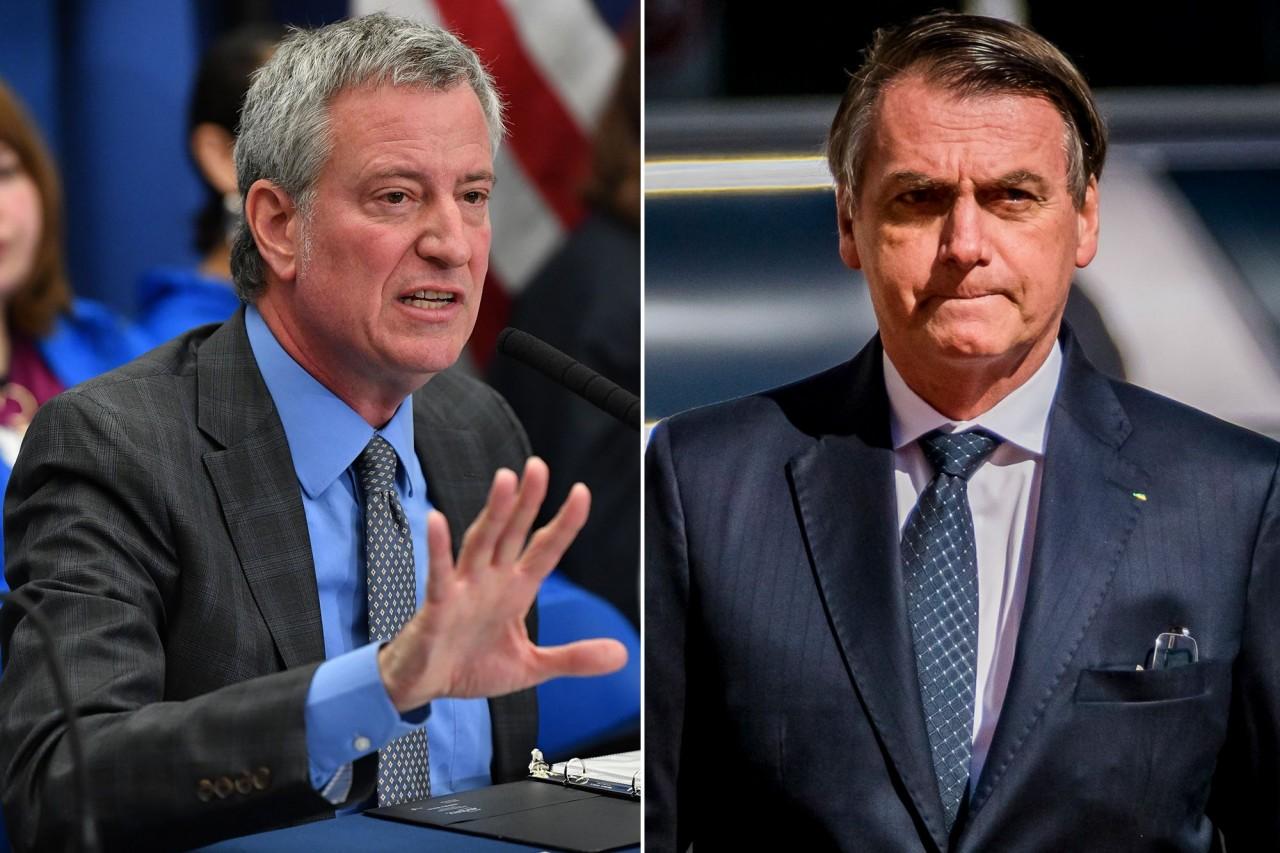 de blasio nyc 495 copy - 'Se você não quer se vacinar, nem precisa vir', diz prefeito de Nova York a Bolsonaro