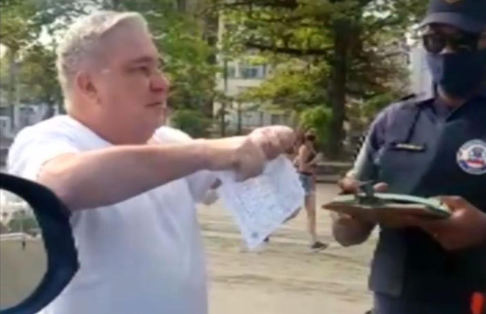 desembargador - USO DA MÁSCARA: Guarda humilhado por desembargador entra com recurso e pede indenização de R$ 114 mil