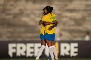 Seleção Feminina de Futebol do Brasil goleia Argentina no Amigão, em CG
