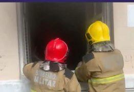 SUSTO! Princípio de incêndio atinge prédio da Funjope, no Centro de João Pessoa – VEJA VÍDEO