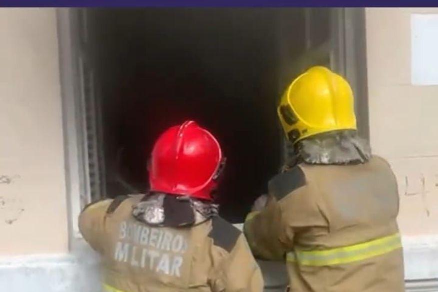 incendio funjope - SUSTO! Princípio de incêndio atinge prédio da Funjope, no Centro de João Pessoa - VEJA VÍDEO