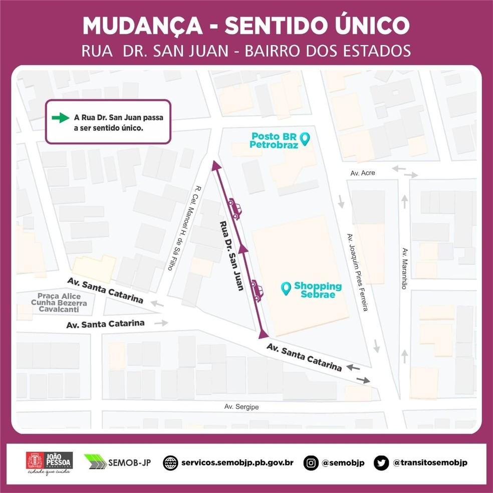 mapa semob bairro dos estados - Trânsito no Bairro dos Estados sofre alteração a partir desta quinta-feira, em João Pessoa