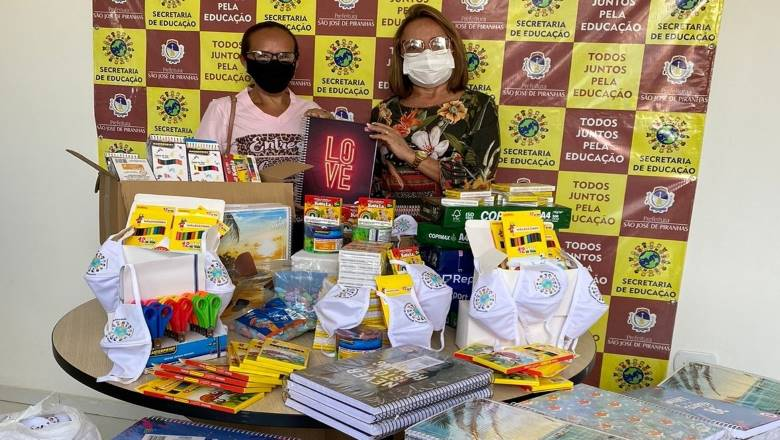 nova capaesta - Prefeitura de São José de Piranhas distribui pela 2ª vez kits escolares aos estudantes do município