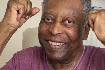 """pele 1 360x240 - Pelé posta foto e comemora recuperação: """"Dando socos no ar a cada dia melhor"""""""