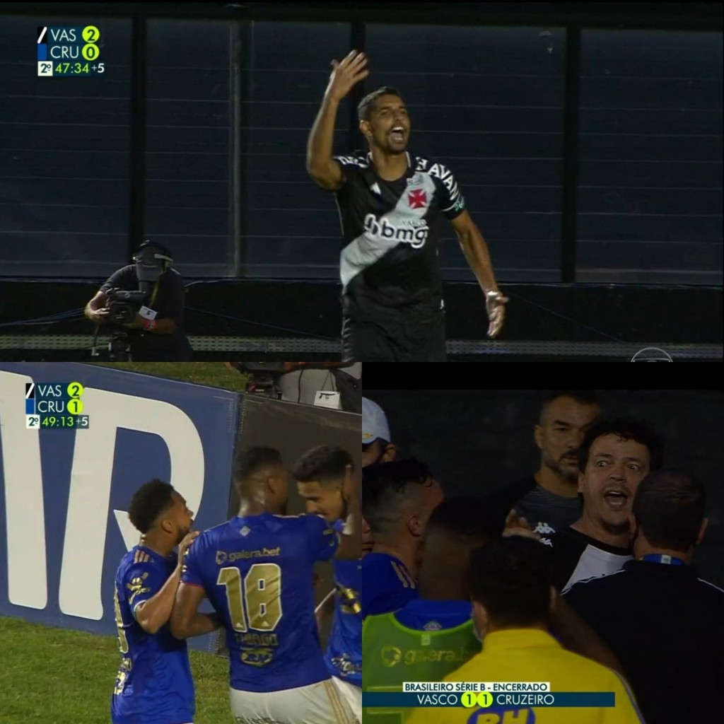 placar errado vasco - Globo comete erro grave durante transmissão e exibe placar errado em partida entre Vasco e Cruzeiro - VEJA