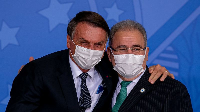 presidente e ministro - Ministro da saúde, paraibano Marcelo Queiroga testa positivo para Covid-19