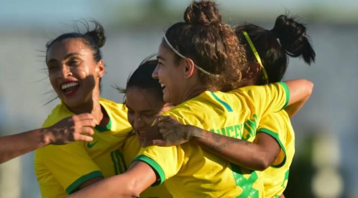selecao feminina marta almeidao - GOLEADA! Seleção Feminina vence Argentina por 4 a 1, em jogo no Almeidão