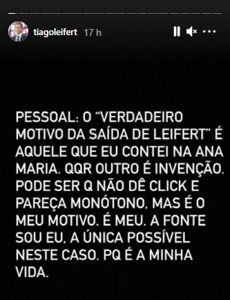t leifert - Jornalista cria fake news sobre saída de Tiago Leifert da Globo e apresentador responde