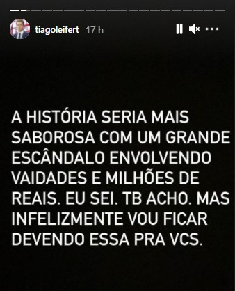 tiago - Jornalista cria fake news sobre saída de Tiago Leifert da Globo e apresentador responde