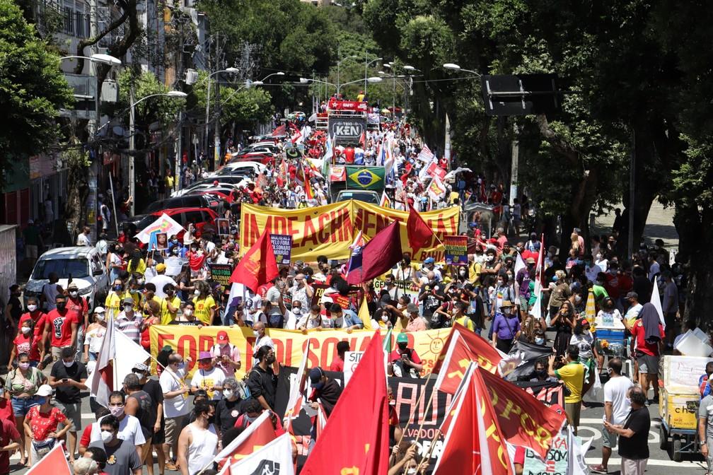 uai20210907008 - PROTESTOS PELO BRASIL: Veja imagens de atos contra Bolsonaro no 7 de Setembro
