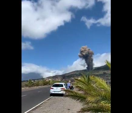vul - Vulcão nas Ilhas Canárias que pode provocar tsunami no Nordeste do Brasil entra em erupção - VEJA VÍDEO