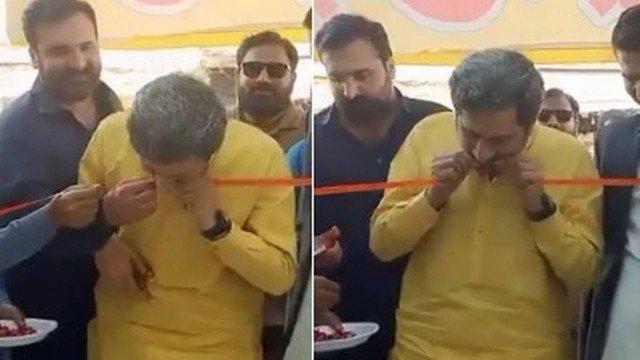 xblog minister 2.jpg.pagespeed.ic .xxoBgAoyx3 - Com tesoura cega, ministro apela aos dentes para cortar faixa em inauguração de loja