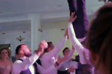 Noivo fratura a coluna após ser jogado para o alto por convidados de casamento