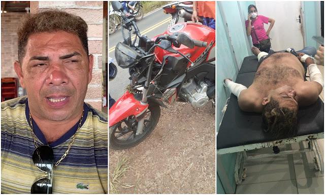 046E3DFB 3104 4EAC AA4F 5352130EF4DF - Cantor Edésio Nascimento, o 'Milionário do Brega', sofre acidente de moto no Maranhão