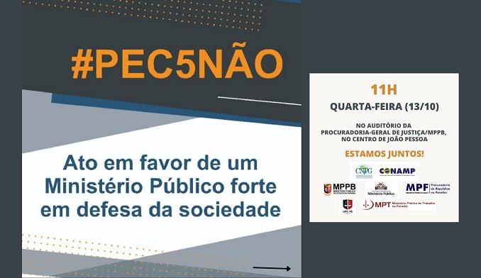 11 10 2021 pec site - MPs realizam ato público contra a PEC que tira autonomia do Ministério Público nesta quarta-feira