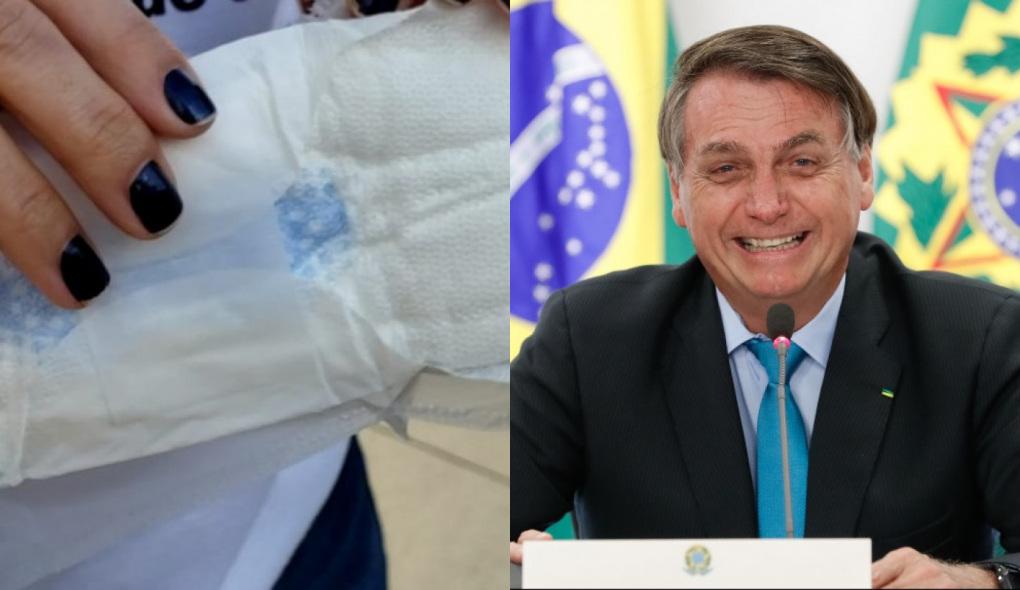 1633616135430164 - Bolsonaro veta distribuição gratuita de absorventes a mulheres de baixa renda