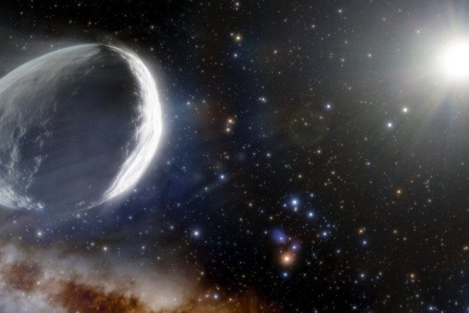 """1  120748470 illustration of comet bernardinelli bernstein 6902133 - Maior cometa já descoberto está viajando na direção da Terra: """"Cerca de 31 vezes maior"""""""