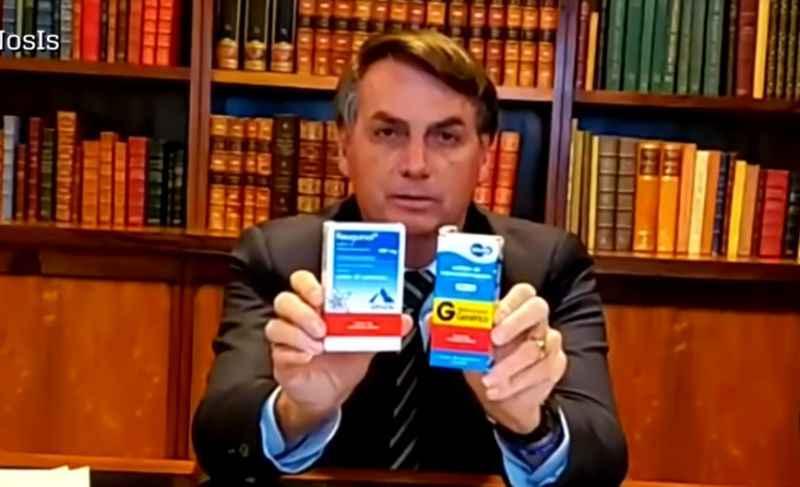 """20200707124438182343u - Não vacinado, Bolsonaro volta a dizer que tomará ivermectina e cloroquina se tiver Covid-19 de novo: """"A minha vida que está em jogo"""""""