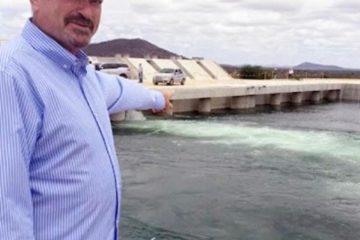 Estou muito feliz e emocionado com a chegada das águas da transposição no sertão da Paraíba afirma Jeová Campos