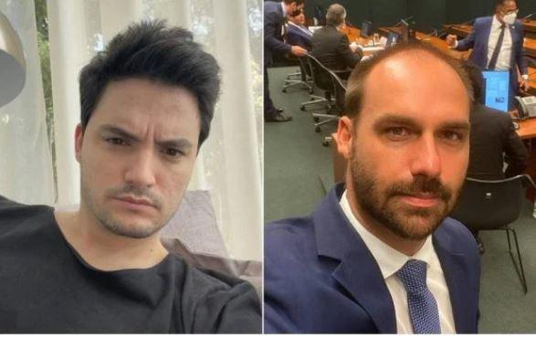 """FELIPE 1 - Felipe Neto critica Eduardo Bolsonaro sobre Superman Bisexual: """"Sexualidade frágil"""""""