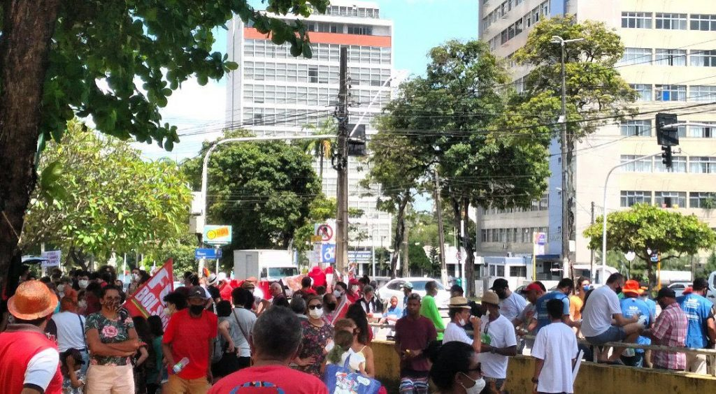 Fora Une Bolsonaro JP 1 1024x564 - Com presenças de Damião, Anísio e Cida, esquerda realiza atos contra Bolsonaro neste sábado (02) na Paraíba