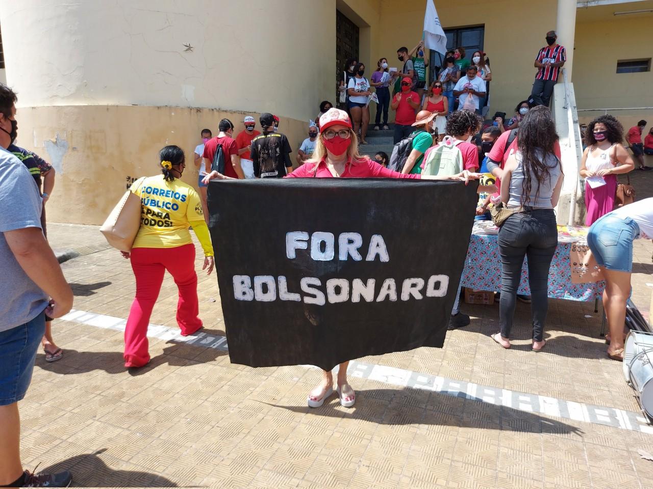 Fora Bolsonaro3 - Com presenças de Damião, Anísio e Cida, esquerda realiza atos contra Bolsonaro neste sábado (02) na Paraíba