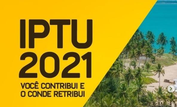 IPTU - Prefeitura de Conde prorroga até 29 de outubro prazo para pagamento do IPTU com 15% de desconto