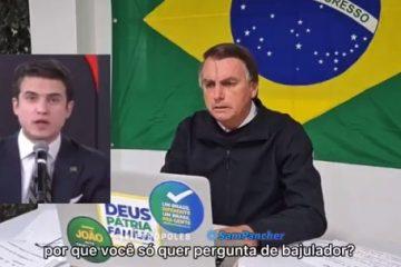 JAIR BOLSONARO HUMORISTA 360x240 - Bolsonaro abandona entrevista após pergunta de ex-aliado sobre 'rachadinha' e bate-boca entre apresentadores; VEJA VÍDEO