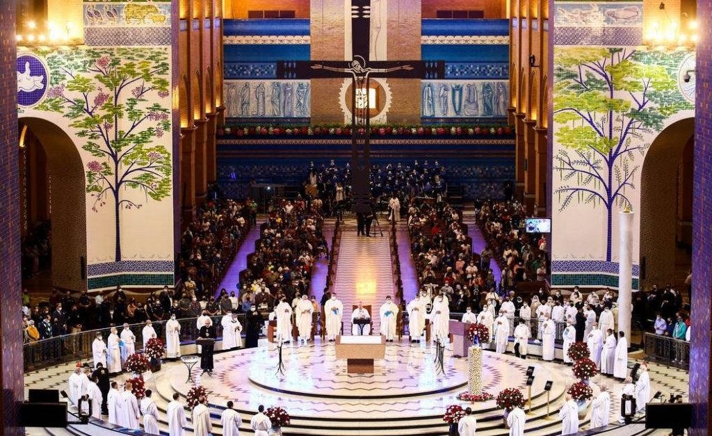 MISSA 1024x627 - 'Para ser pátria amada não pode ser pátria armada', diz arcebispo de Aparecida durante missa da padroeira do Brasil