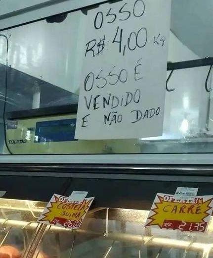 OSSO - Supermercado no Pará vende restos de peixes e imagem repercute nas redes