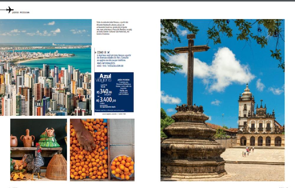 PB3 - 'JOIA RARA': Paraíba é destaque na revista de bordo da Azul