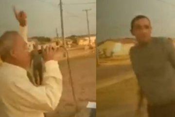 Pastor e agredido em Satarem no Para Reproducao 360x240 - VIOLÊNCIA: Pastor da Assembleia de Deus é agredido enquanto pregava na rua - VEJA VIDEO
