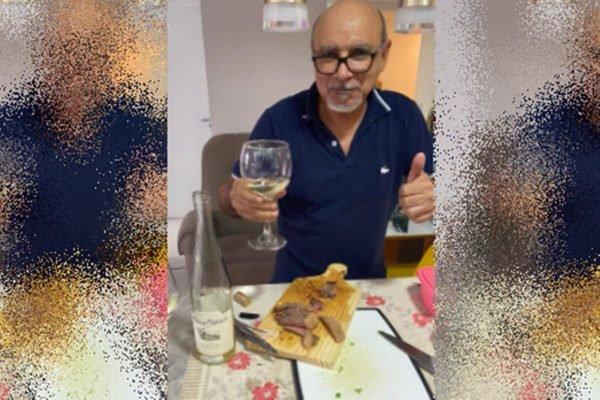 Queiroz 5 600x400 2 - VIDA DE LUXO: Queiroz esquece sumiço e ostenta nas redes com camarão, churrasco e cerveja