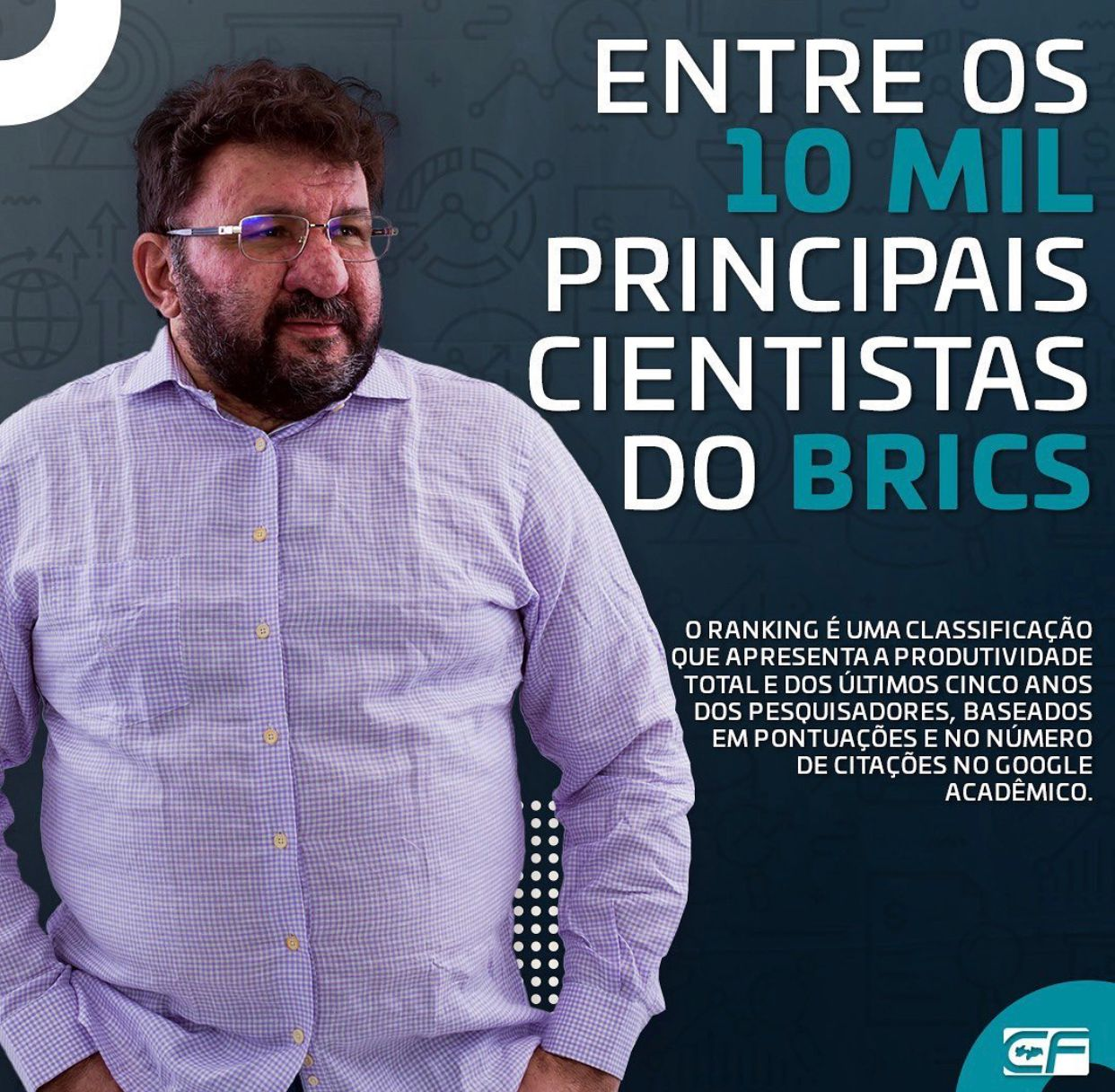WhatsApp Image 2021 10 02 at 11.08.28 - Secretário de educação da Paraíba aparece em ranking dos principais cientistas do Brics; confira lista