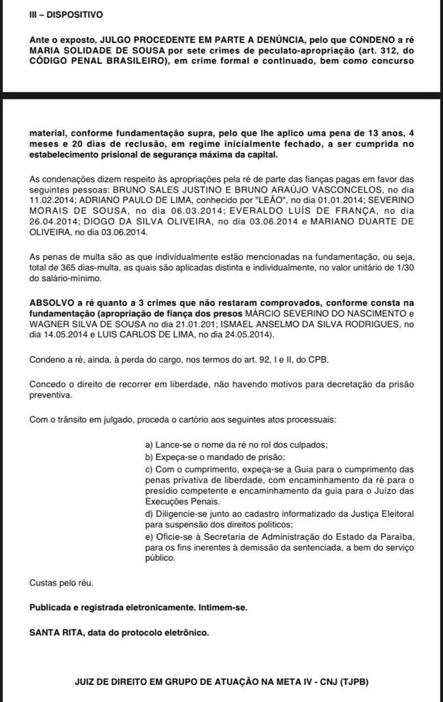WhatsApp Image 2021 10 06 at 08.01.55 1 - 13 ANOS DE RECLUSÃO: Delegada presa na Operação cara de Pau é condenada por sete crimes e deve ir para presídio de segurança máxima de JP