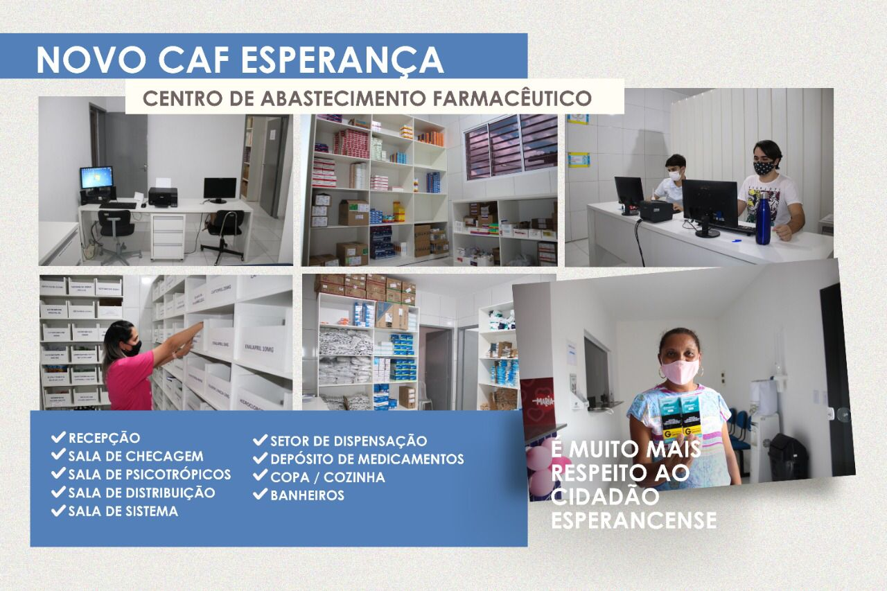 WhatsApp Image 2021 10 09 at 08.53.57 - Prefeito de Esperança, Nobinho Almeida entrega Centro de Abastecimento Farmacêutico