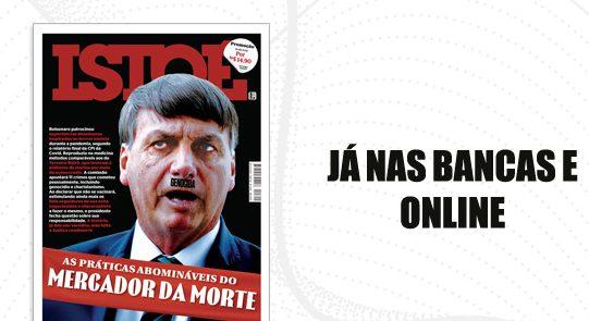 """WhatsApp Image 2021 10 15 at 20.49.18 1 e1634344787862 - Capa da IstoÉ retrata Bolsonaro como Hitler e chama presidente de """"genocida""""; confira"""