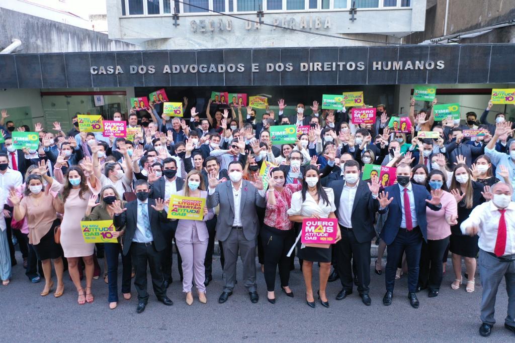 WhatsApp Image 2021 10 18 at 19.28.52 - ELEIÇÃO OAB: Oposição registra chapa 'Atitude OAB' com Raoni Vita como presidente e Taísa Gadelha, vice