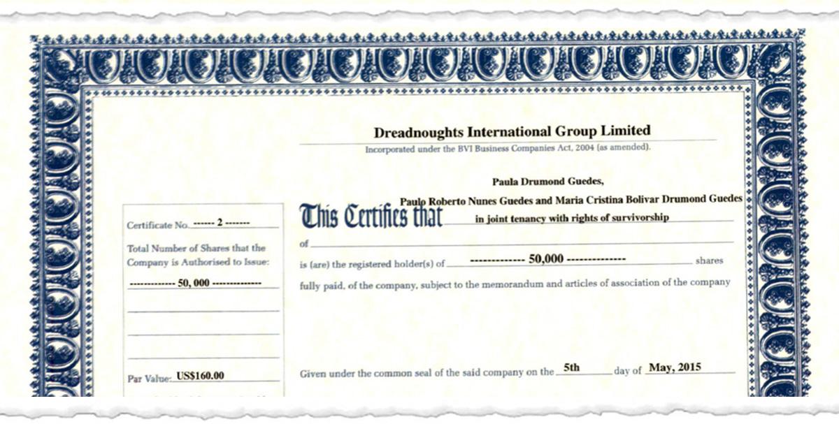 certificado1.3 - Documentos inéditos comprovam que Paulo Guedes tem Offshore milionária em paraíso fiscal