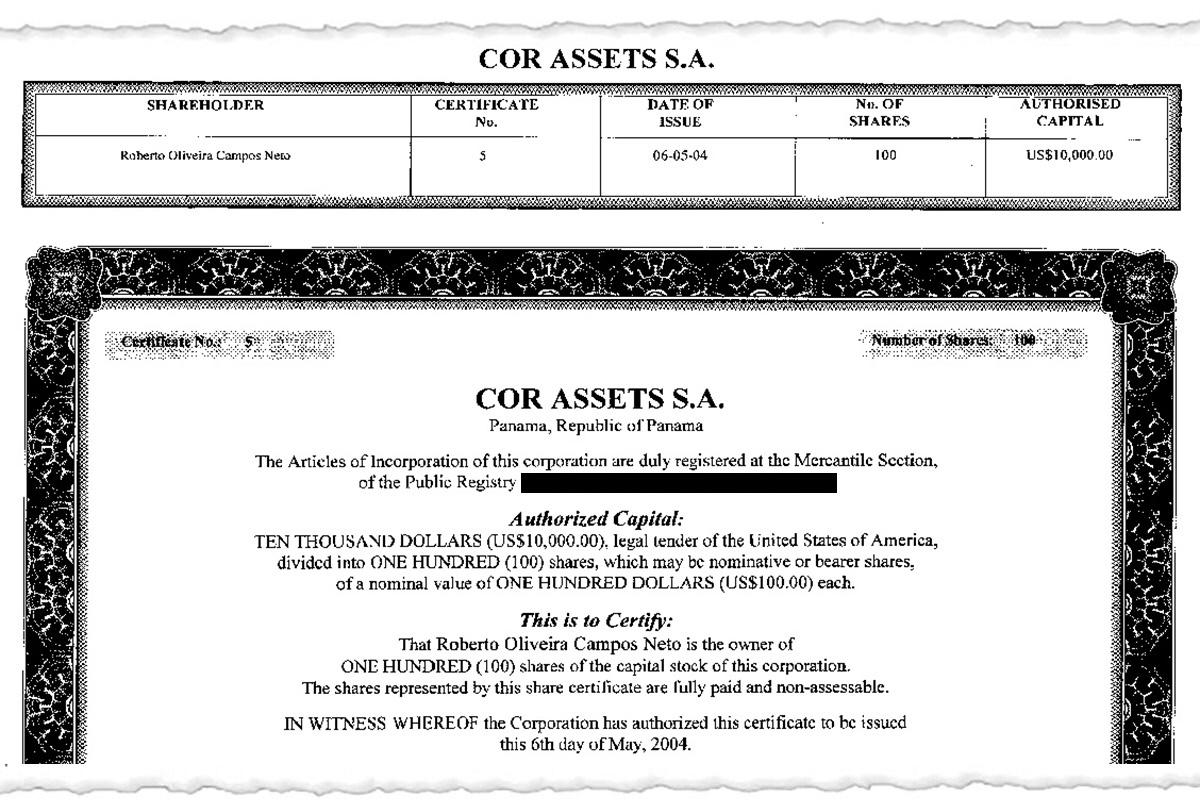 certificado2.3 interna - Documentos inéditos comprovam que Paulo Guedes tem Offshore milionária em paraíso fiscal