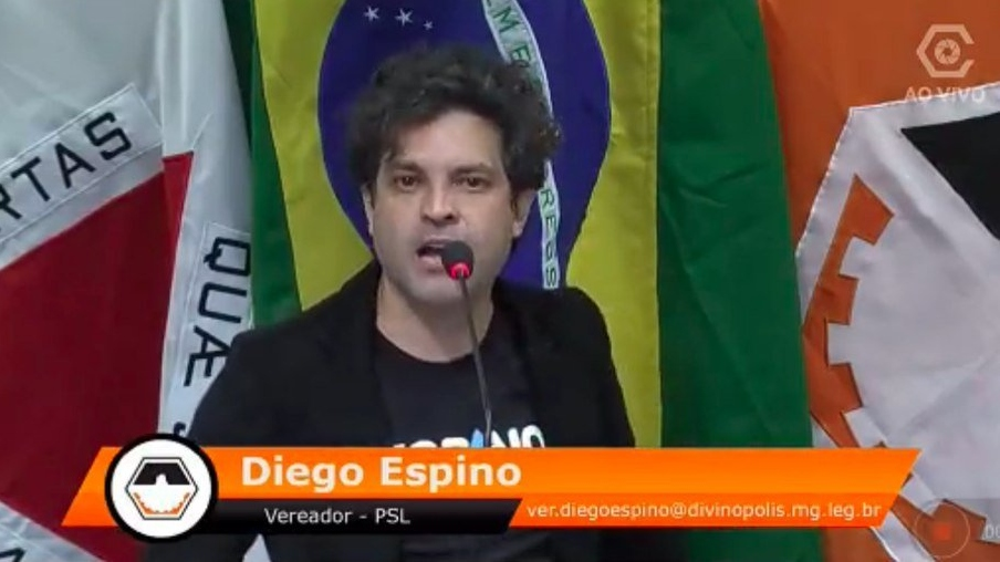 diego espino - Durante discurso homofóbico na Câmara, vereador do PSL se revolta perde o fôlego e desmaia - VEJA VÍDEO