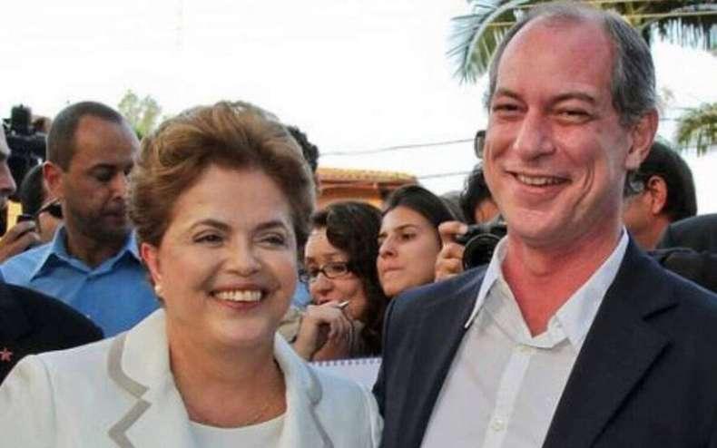 "dilma e ciro gomes 0 - TROCA DE FARPAS! Ciro chama Dilma de ""incompetente e presunçosa"" e diz se arrepender de ter lutado contra impeachment"