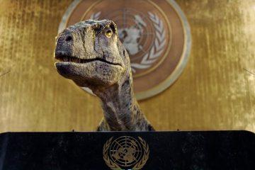 dino 360x240 - COP26: ONU usa tiranossauro para fazer alerta 'salvem sua espécie antes que seja tarde''