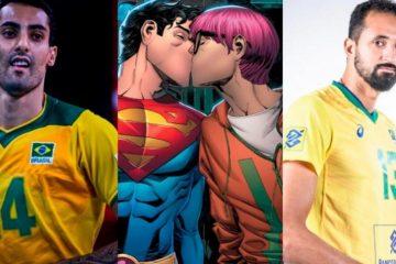 """Douglas e Mauricio, da Seleção de vôlei, trocam indiretas na internet sobre Super-Homem bissexual: """"Heterossexualidade frágil"""""""